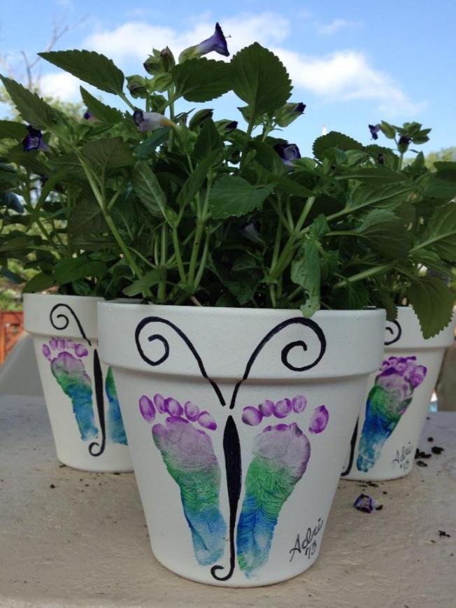 Baby Foot Butterfly Flower Pots